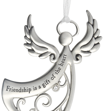 Friendship is a Gift Angel Ornament