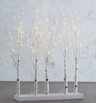 LED Birch Lighted Winter Forest