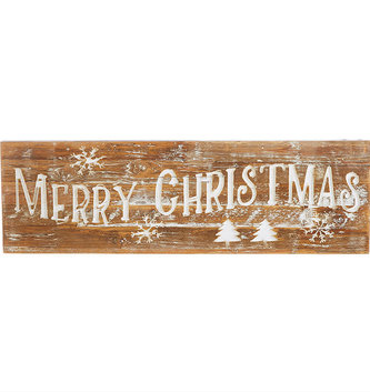 Merry Christmas Carved Sign