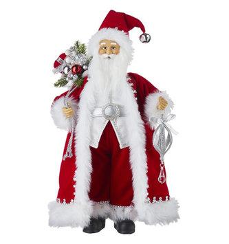 Santa w/ Red Velvet Coat & Jewels