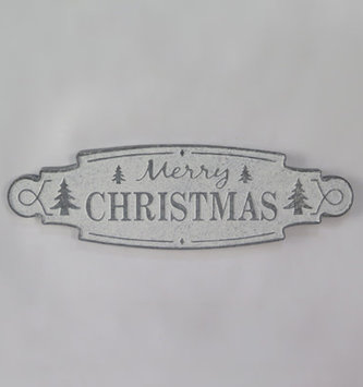 Merry Christmas Galvanized Sign