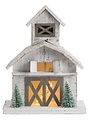 Battery-Operated Vintage Barn Village Piece (2-Sizes)