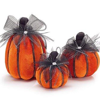 Jeweled Velvet Pumpkin (3-Sizes)