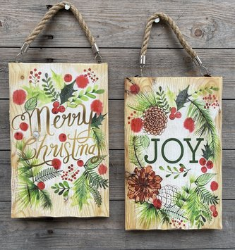 Hanging Wooden Christmas Art (2-Styles)