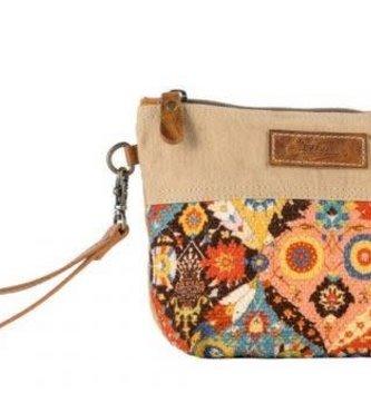 Handcrafted Upcycled Alba Wristlet Bag