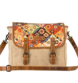 Handcrafted Upcycled Wildfire Shoulder Bag