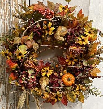 Assorted Fall Pumpkin Wreath