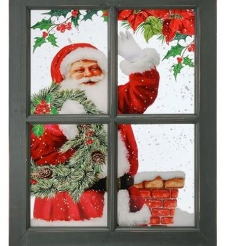 Window Pane Santa Print (2-Styles)
