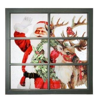 Large Window Pane & Reindeer Print