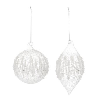 Clear Textured Swirl Ornament (2-Styles)