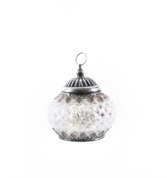 Mini Vintage LED Mercury Glass Textured Lantern