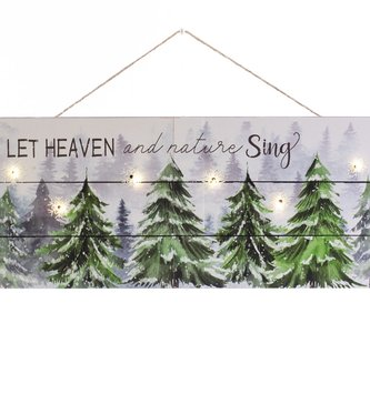 LED Let Heaven & Nature Sing Tree Sign