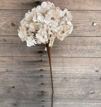 Two-Tone Linen Beaded Hydrangea