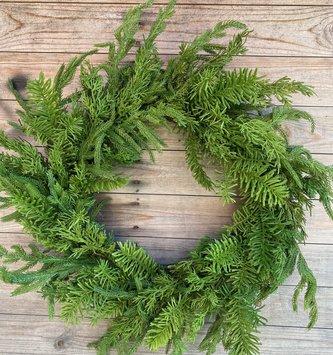"""24"""" Mixed Norfolk Balsam Wreath"""