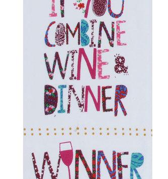 Combine Wine & Dinner Tea Towel