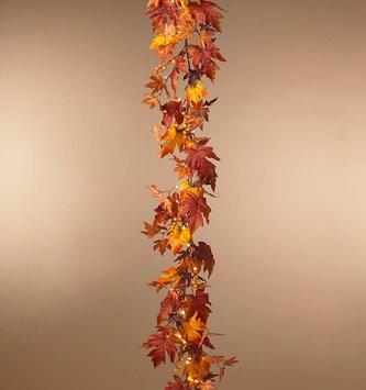 6-ft Lighted Harvest Garland