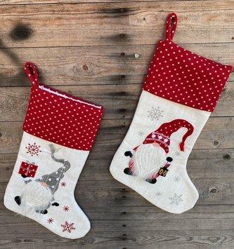 Polka Dot Gnome Stocking (2-Styles)