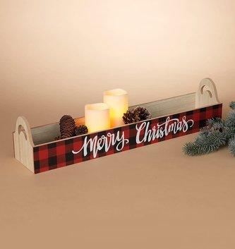 Buffalo Plaid Merry Christmas Tray