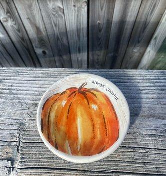 Orange Pumpkin Candle Saucer