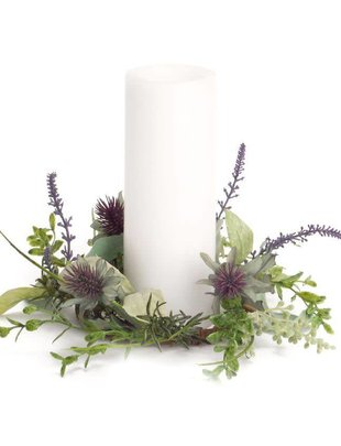 Mixed Herb & Thistle Candle Ring