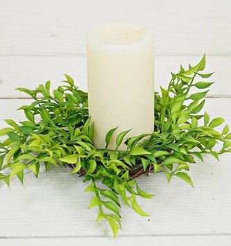 Willow Fern Candle Ring (2 Sizes)
