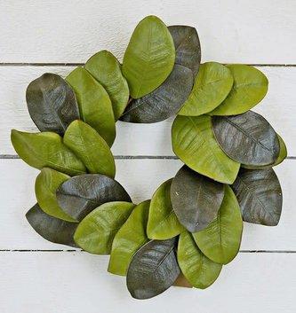 Magnolia Leaf Candle Ring
