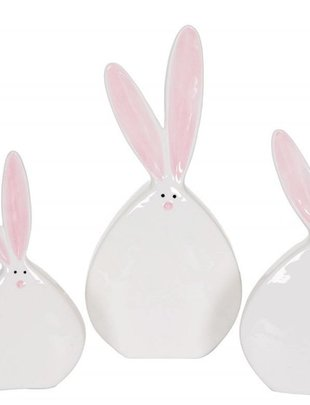 Flat Ceramic Bunny (3 sizes)