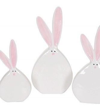 Flat Ceramic Bunny (3 sizes)
