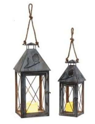Open Metal Bird Lantern