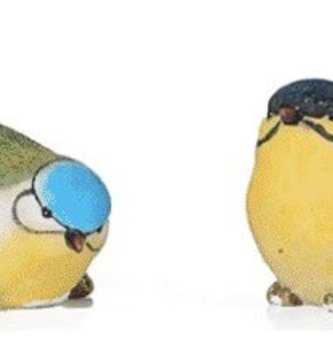 Mini Blue Yellow Bird (4-Styles)