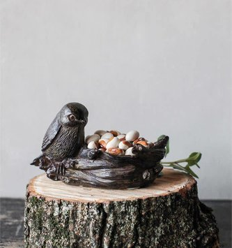 Bird with Nest Votive Holder