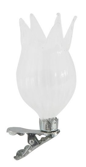 Clip-on Glass Morning Glory Mini Vase
