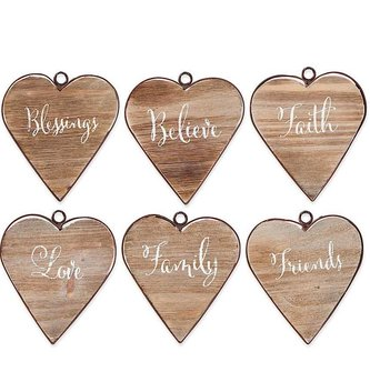 Framed Wooden Hearts (6  styles)