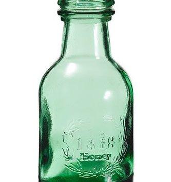 Round Green Bottle
