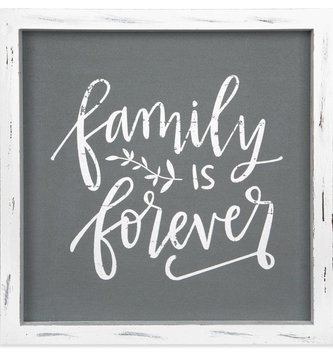 Family is Forever Linen Sign