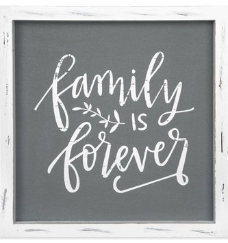 Family is Forever Linen Sign