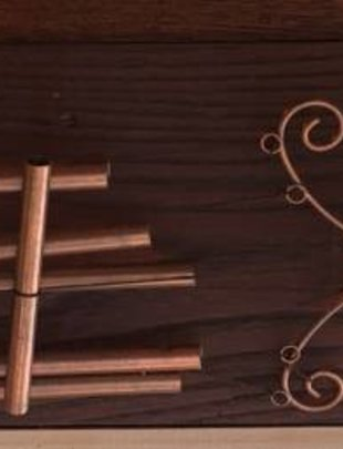 Copper Butterfly Wind Chime