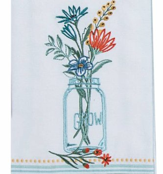 Mason Jar Grow Tea Towel