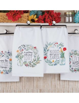 Mason Jar Wreath Towel (4 Styles)