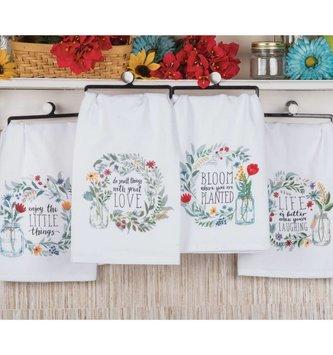 Mason Jar Wreath Towel (4 Styles)