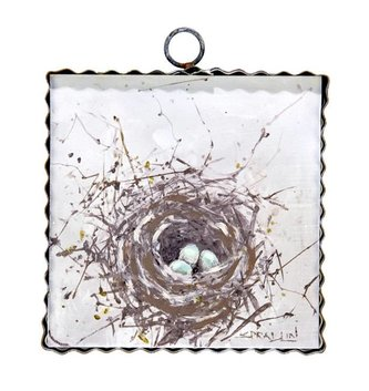 Robin's Egg & Nest Small Painted Print