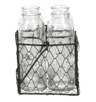 Wire Basket Vase Set (2-Sizes)