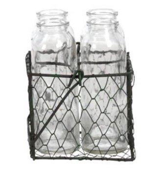 Wire Basket Vase Set