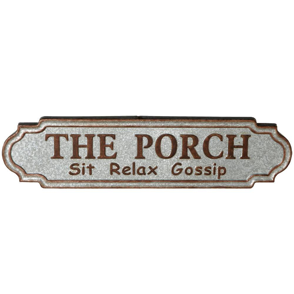 The Porch Galvanized Sign