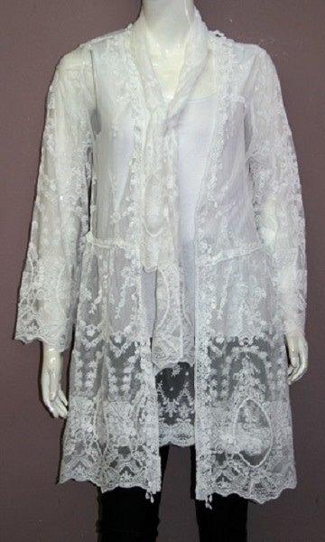 3 Piece White Lace Ensemble