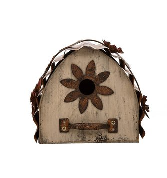 Flower Rustic Arched Birdhouse
