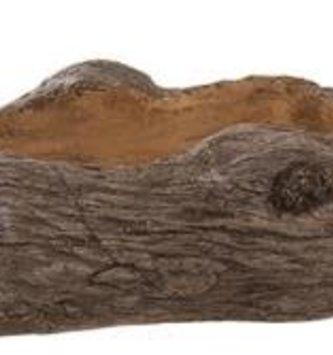 "15"" Brown Log Planter"