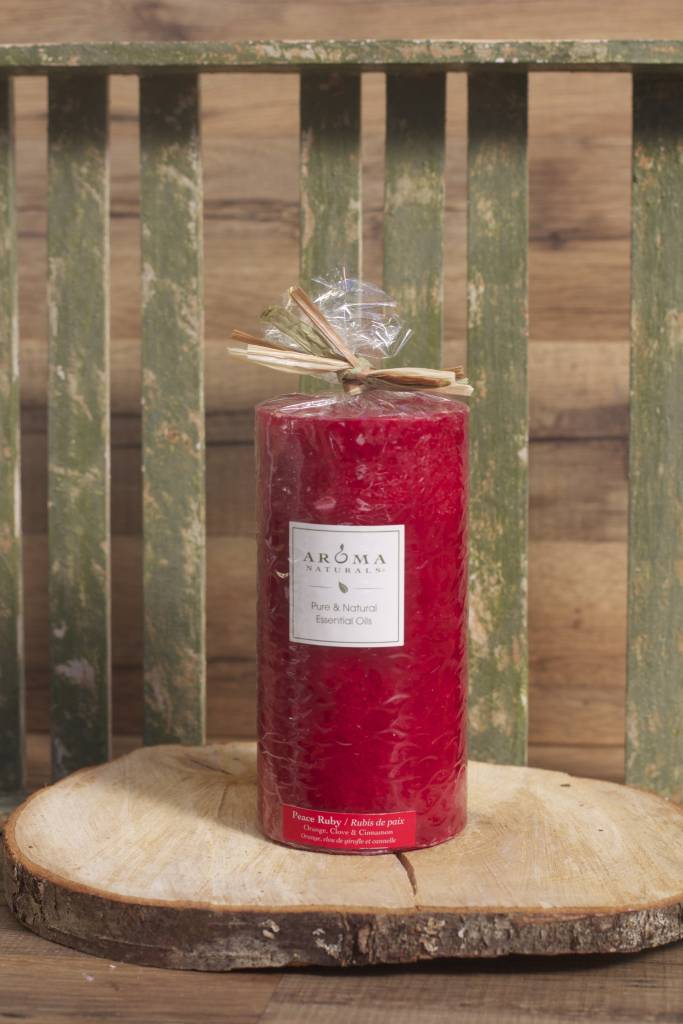Peace Ruby Candle