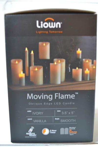 Liown Battery Pillar Candle