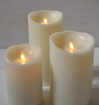 Liown Battery Pillar Candle (3 Sizes)